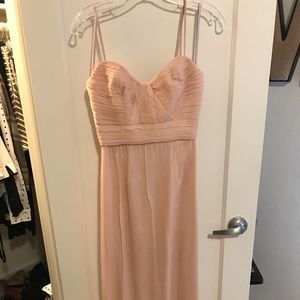 AMSALE Blush Floor Length Gown-*Altered*